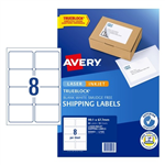 Avery Internet Shipping Labels L7165 8UP White 10