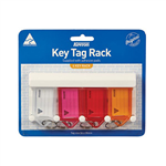 Kevron Key Tag Rack 4 Capacity  With Tags Assorted